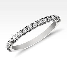 Monique Lhuillier French Pavé Wedding Band in Platinum Pave Wedding Bands, Platinum Wedding Rings, Wedding Rings For Women, Diamond Wedding Rings, Diamond Anniversary Bands, Antique Wedding Rings, Marquise Diamond, Monique Lhuillier, Band Rings