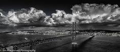 The fantastic 25 April Bridge in Lisbon taken on the south side of the Tejo at Almada (Cristo Rei)