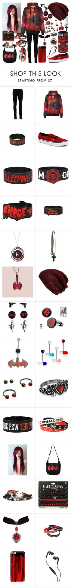 Untitled #285 by legacy-sinister on Polyvore featuring WithChic, Yves Saint Laurent, Vans, David Yurman, King & Fifth Supply Co., Casetify and Skullcandy