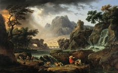 My favorite piece at the DMA: Claude Joseph Vernet - A Mountain Landscape with an Approaching Storm