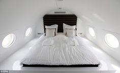Airplane Hotel in Amsterdam #travelticker #travel #unusualhotels