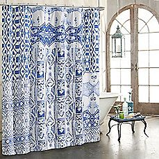 Rugby Stripe Shower Curtain White/Blue Cool   Room Essentials™ | Striped  Shower Curtains, Target And Room