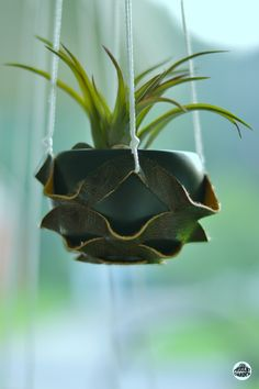DIY Kirigami Leather Plant Hanger