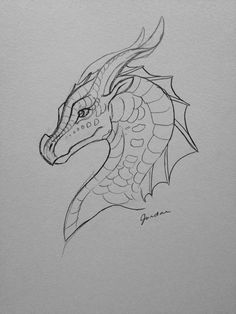 New Totally Free dragon drawing sketches Ideas It is possible to genuine distinction between sketchi Pencil Art Drawings, Cool Art Drawings, Art Drawings Sketches, Drawing Ideas, Cool Dragon Drawings, Drawings Of Dragons, Dragon Head Drawing, Fantasy Drawings, Sketch Art