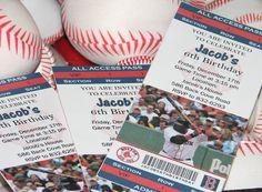 Baseball Party Invites.