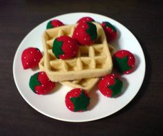 felt breakfast fruit