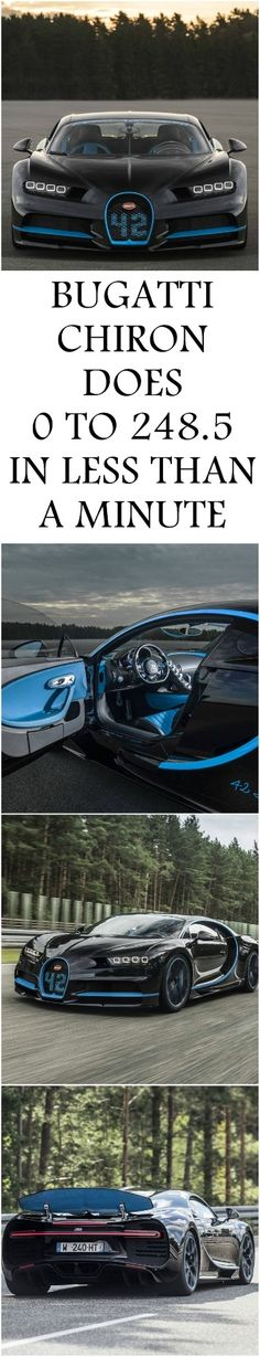 #BUGATTI #CHIRON DOES 0 TO 248.5 TO 0 IN LESS THAN A MINUTE - #BUGATTINEWS