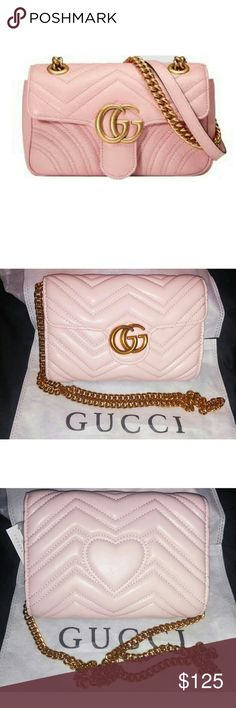 Gucci Marmont Small (1 Available) NO OFFERS!!!! NO OFFERS!!!!  NO OFFERS!!!!!  (1st Picture is not actual bag) New with tags Inspired Gucci crossbody bag Pink & Hardware is Gold Bronze Comes with dust bag No box                      Forever 21 Steve Madden Girl Free People Aldo BCBG BCBGeneration For Love and Lemon Guess Mossimo Shoe Dazzle Just Fab Zara Missguided Hermes lv louis Vuitton Moschino Gucci Soho Classic Chanel boy Bags Shoulder Bags