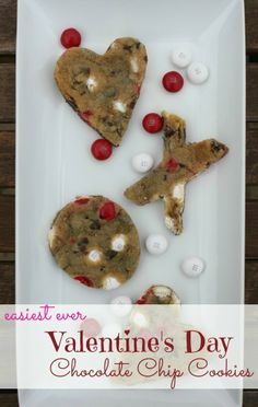 Easiest Ever Valentine's Day Chocolate Chip Cookies - Pandora's Deals