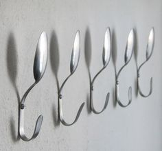 Wall hooks for clothes, bags, towels, etc...