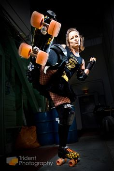 Edmonton Roller Derby Girls by Trident Photography