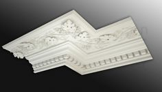 An outstanding statement for luxurious rooms in mock period and period properties this gorgeous plaster Pershore Grape cornice will crown the room in style! Plaster Coving, Plaster Cornice, Plaster Art, Ceiling Coving, Ceiling Rose, Victorian Bedroom, Edwardian House, Roof Design, Ceiling Design