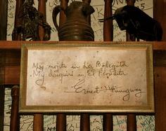 """""""My mojito in La Bodeguita, My Daiquiri in El Floridita."""" - E Hemingway"""