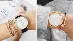 Often the simplest of combinations is the most stylish and the watch-and-bangle combo – a favourite of the fashion set of late – is one such example.