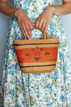 Weight Bags, Shops, Straw Tote, Basket Bag, Floral Fabric, Wicker, Etsy Shop, Purses, Beach