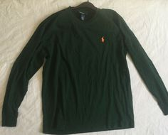 Polo Ralph Lauren Mens Long Sleeve T-Shirt Green Sz Small #PoloRalphLauren #PoloRugby
