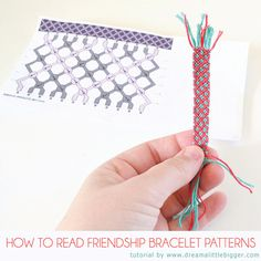 to Read Friendship Bracelet Patterns Friendship bracelet patterns demystified! (video)Video (disambiguation) Video is an electronic medium for the recording, copying and broadcasting of moving visual images. Video may also refer to: Thread Bracelets, Embroidery Bracelets, Macrame Bracelets, Cuff Bracelets, String Bracelets, Macrame Knots, Micro Macrame, Making Friendship Bracelets, Diy Friendship Bracelets Patterns