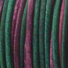 1.5mm Indian Leather Round Beading Jewelry and Craft Cord 25 Yards Gypsy Dyed Sunset- 1.5mm Thick