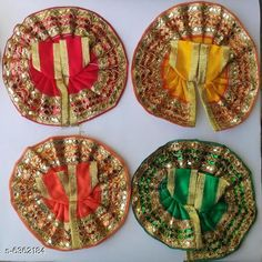 Checkout this latest Pooja Samagri Product Name: *Stylish Silk Laddu Gopal Poshak* Material: Plastic Pack: Multipack Product Length: 4 Inch Product Breadth: 4 Inch Easy Returns Available In Case Of Any Issue   Catalog Rating: ★4.3 (3868)  Catalog Name: Stylish Silk Laddu Gopal Poshak CatalogID_1011507 C128-SC1315 Code: 34-6362184-921