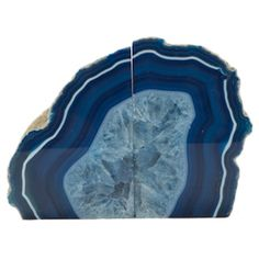 Two+Brazilian+agate+bookends.+  Product:+Set+of+2+bookendsConstruction+Material:+AgateColor:+Blue...