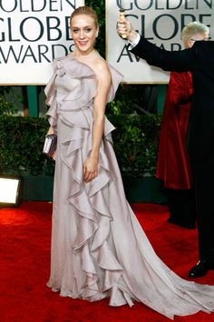 What: Valentino Where: Golden Globe Awards in 2010 Why: Sevigny wore this ruffled confection like a work of art.