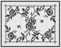Rectangle 20 | Free chart for cross-stitch, filet crochet | Chart for pattern - Gráfico
