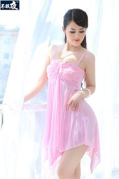 Ladies Sexy Faux Silk Satin Night Dress Sleeveless Night Gown V-Neck Nightgown  Plus Size Nightdress Lace Sleepwear For Women 4020b0626