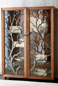 Tree Branch Display Cabin #rustic #decor