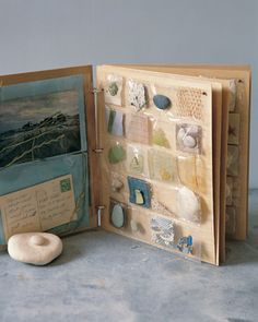 Great Way to Save Small Memotos, such as shells, in a scrapbook