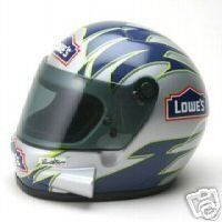 """Jimmie Johnson Riddell Nascar Mini Helmet by Riddell. $29.99. Mini Replica Helmet. The helmet measures approximately 6 3/4"""" long x 5 1/2"""" wide x 5""""  tall. This item would make a great gift for any Nascar fan!"""