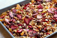 Paleo Granola With Oven-dried Strawberries - Eat Drink Paleo