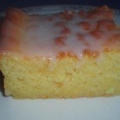 Best Lemon Sheet Cake ~ MOIST too, serve warm, or cold.