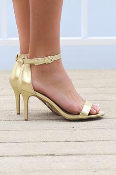 Mykonos Metallic Gold Heels
