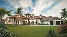 House Plan 5631-00067 - Mediterranean Plan: 4,660 Square Feet, 4 Bedrooms, 3.5 Bathrooms Mediterranean Homes Exterior, Mediterranean House Plans, Mediterranean Decor, Exterior Homes, Mediterranean Architecture, Modern Farmhouse Plans, Modern House Plans, House Floor Plans, European Plan