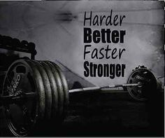 MOTIVATION WALL DECAL WALL QUOTE GYM WALL DECOR HARDER BETTER FASTER STRONGER