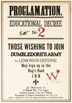 Harry Potter World: DECRETOS DE UMBRIGE