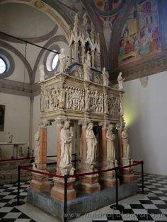 Detail inside Cappella Portinari in Milan (Italy)