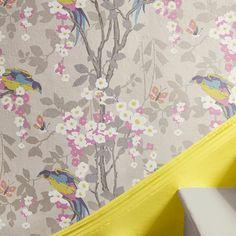 Loriini by Little Greene - Dorian - Wallpaper : Wallpaper Direct Wallpaper Paste, Wallpaper Samples, True Colors, Colours, Wall Candy, Little Greene, Bird Perch, Color Card, Room Set