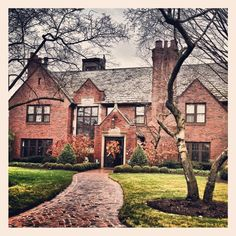 English Tudor style home in Palmer Park neighborhood of Detroit, MI