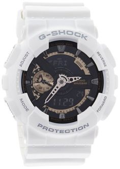 G-shock Men's Crystal Watch Color: White ** Want to know more, click on the image.