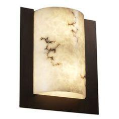 Justice Design Group FAL-5562 - Framed Rectangle 3-Sided Wall Sconce (ADA) - Dark Bronze - FAL-5562-DBRZ-LED-2000