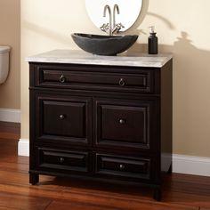 """36"""" Orzoco Black Vessel Sink Vanity - Bathroom Vanities - Bathroom"""