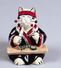 Whimsiclay Cat Collectible Figurines by Amy Lacombe at Cat Fancy Gifts