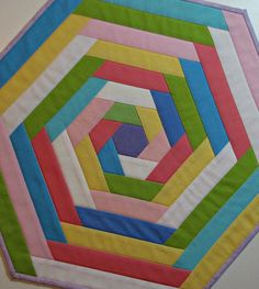Quilted Table Topper Easter Spring Table Topper by VillageQuilts