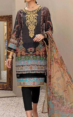 Pakistani Lawn Suits, Suits Online Shopping, Pakistani Designers, Kimono Top, Fashion Dresses, Clothes, Collection, Black, Tops