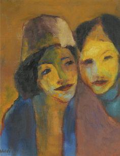 Emil Nolde (1867-1956) Joy Of Colours 1949 (70,5 x 56,5 cm)