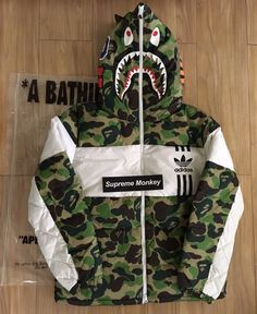 Bape Bape X Adidas Shark Down Jacket Size M $1300 - Grailed