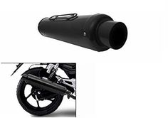 BICYCLISM Bike PE-1 Slip On Performance Exhaust Can Black for Bajaj 4S Champion: Amazon.in: Car & Motorbike Atv Exhaust, Bend Pipe, Bank Of Baroda, Champion Brand, Performance Exhaust, Sport Bikes, Exhausted, Motorbikes, Slip On