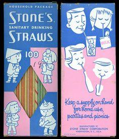 Stones's Drinking Straws 1950's