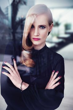 Jessica Chastain by Max Vadukul for YSL Beauty